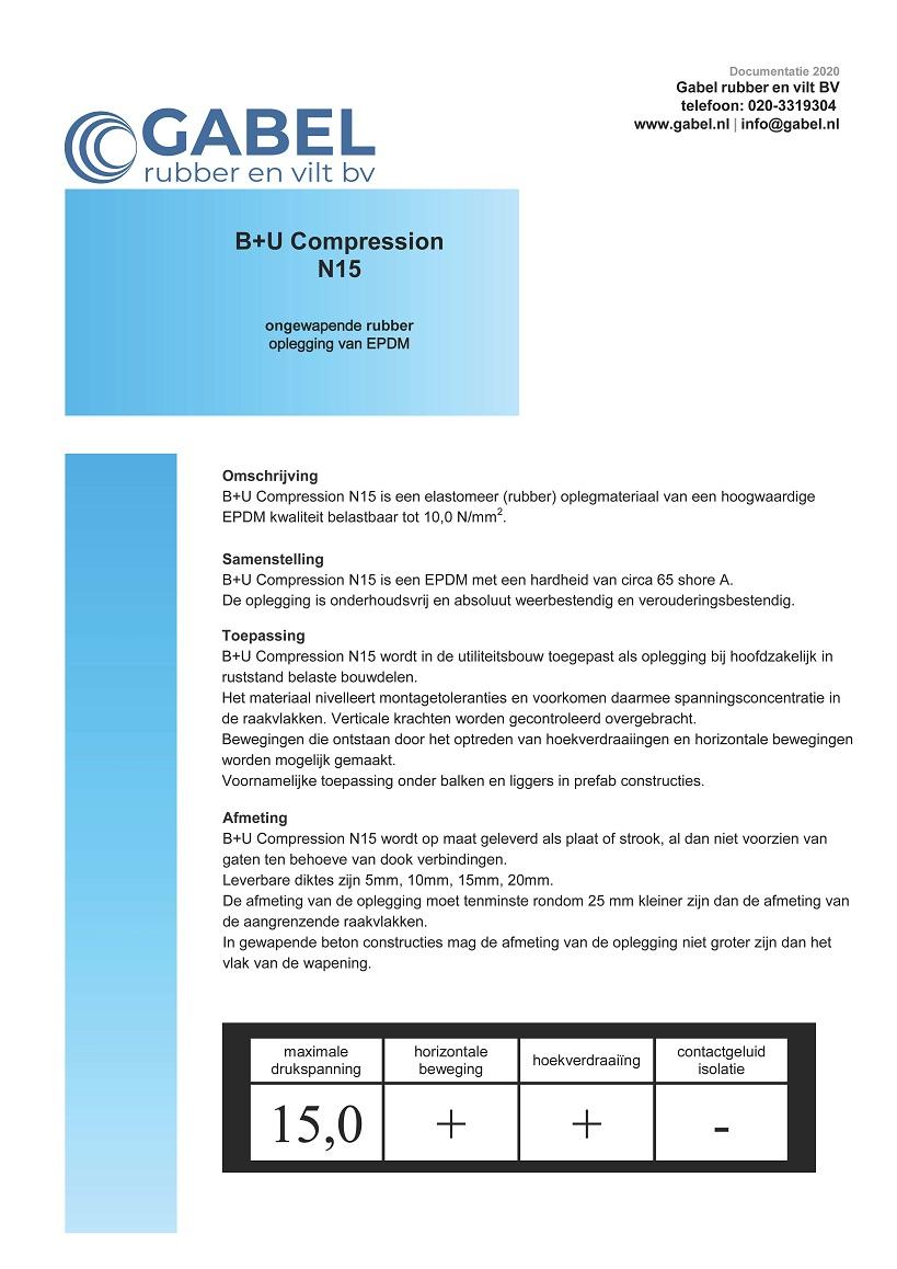 Documentatie B+U Compression N15