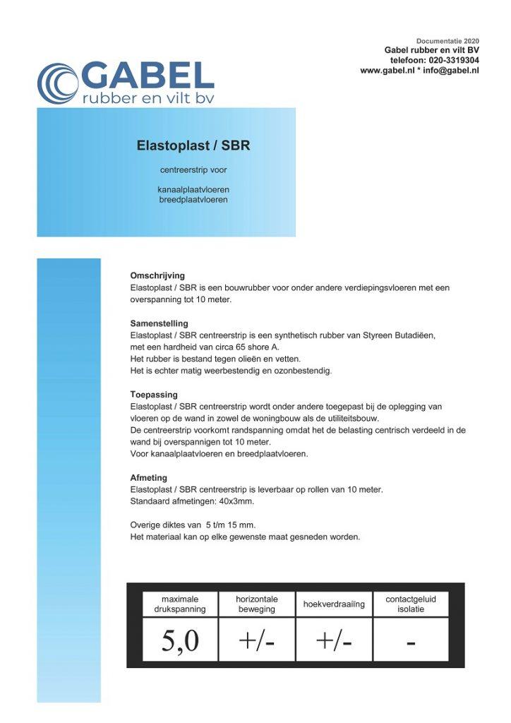Documentatie Elastoplast-SBR